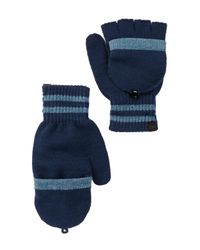 Timberland | Blue Pop-top Convertible Gloves for Men | Lyst