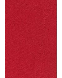 Maggy London - Red Illusion Yoke Crepe Sheath Dress - Lyst