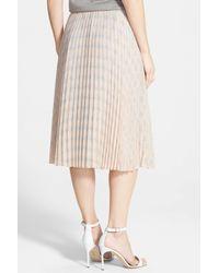 Halogen - Pink Pleat Midi Skirt (petite) - Lyst
