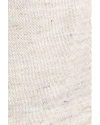 Halogen Blue Long Belted Linen Blend Cardigan