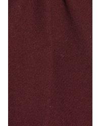 Halogen Blue Belted Short Wool Blend Coat