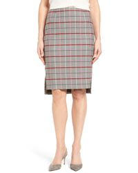 Halogen | Multicolor (r) Plaid Pencil Skirt (petite) | Lyst