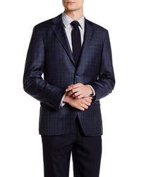 Spurr By Simon Spurr - Blue Logan Dual Color Plaid Slim Fit Wool Sport Coat for Men - Lyst