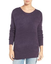 Hinge | Purple Strap Back Sweater | Lyst