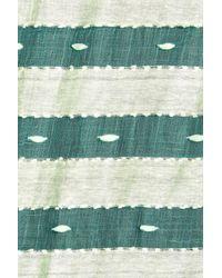 Blue Pacific - Green Silk Sheer Striped Wrap - Lyst
