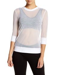 Norma Kamali | White Long Sleeve Mesh Pullover | Lyst