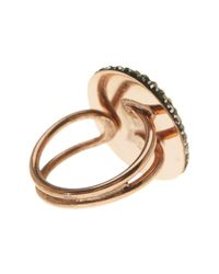 Native Gem Jewelry | Metallic Rose Gold Vermeil Natural Sapphite Ilume Ring | Lyst