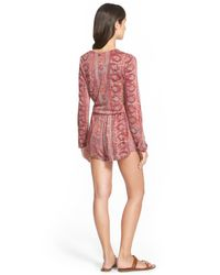 Billabong - Red See The Sunm Romper - Lyst