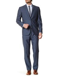 JB Britches - Blue Navy Wool Two Button Notch Lapel Standard Fit Suit for Men - Lyst