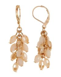 Joe Fresh | White Cluster Bead Drop Earrings | Lyst