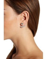 Joe Fresh - Natural Studded Jacket Earrings - Lyst