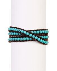 Lucky Brand Multicolor Turquoise Bead Wrap Bracelet