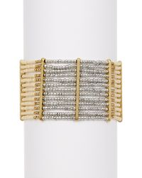Lucky Brand - Metallic Beaded Bracelet - Lyst