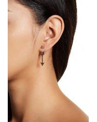 Lucky Brand - Multicolor Crystal Detail Arrow Ear Jacket Earrings - Lyst