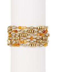 Lucky Brand Metallic Citrine & 7mm Freshwater Pearl Link Bracelet