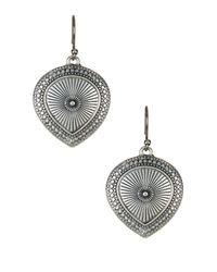 Lucky Brand | Metallic Carved Teardrop Earrings | Lyst