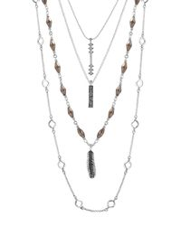 Lucky Brand - Metallic Lucky Layers Necklace - Lyst