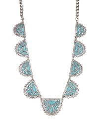 Lucky Brand - Multicolor Stone Collar Necklace - Lyst