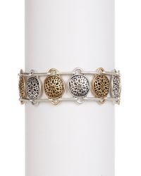 Lucky Brand | Metallic Sugar Plum Motif Bracelet | Lyst