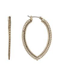 Lucky Brand | Metallic Gold Openwork Hoop Earrings | Lyst