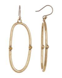 Lucky Brand - Metallic Open Hoop Earrings - Lyst