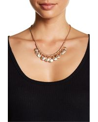 Lucky Brand | Metallic Rose Gold Turquoise Necklace | Lyst