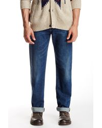 7 For All Mankind | Blue Carsen Easy Straight Leg Jean | Lyst