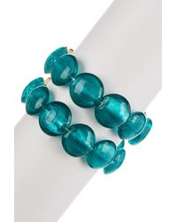 Kenneth Cole - Blue Teal Morano Stretch Bracelet - Lyst