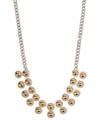 Kenneth Cole | Multicolor Two-tone Double Row Necklace | Lyst
