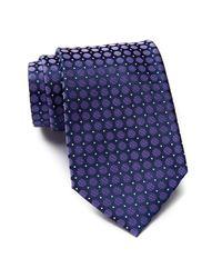 Calvin Klein | Purple Power Dot Silk Tie for Men | Lyst
