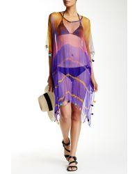 Raj | Purple Tie-dye Long Silk Tassel Caftan | Lyst