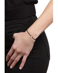 Dogeared - Metallic 14k Gold Plated Sterling Silver Karma Sparkle Ring Cord Bracelet - Lyst