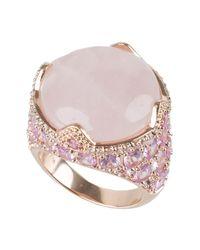 CZ by Kenneth Jay Lane | Pink Cz & Rose Quartz Ring | Lyst