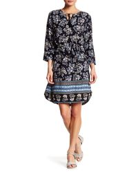 Beach Lunch Lounge | Black Riley Mixed-print Shift Dress | Lyst