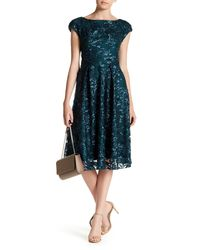 Eva Franco | Blue Embroidered Floral Print Dress | Lyst