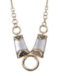 Alexis Bittar - Gray Lucite Center Ring Bib Necklace - Lyst