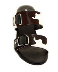 Donald J Pliner - Black Libra Genuine Calf Hair Open Toe Sandal - Lyst