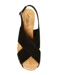 Lucky Brand Black Minari Wedge Sandal
