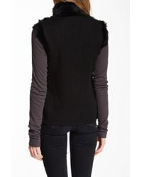 Love Token - Black Eris Reversible Genuine Rabbit Fur Vest - Lyst