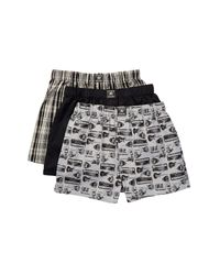 Lucky Brand - Multicolor Black Label Woven Boxer - Pack Of 3 for Men - Lyst