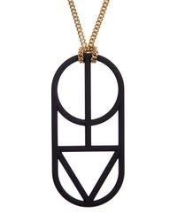 Marc By Marc Jacobs - Black Man Power Pendant Necklace - Lyst