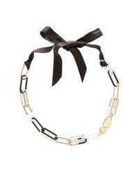 Marc By Marc Jacobs Black Bubble Chain Statement Necklace