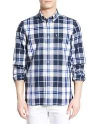 Fred Perry | Blue Shirt for Men | Lyst