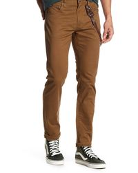 RVCA | Brown Daggers Twill Pant for Men | Lyst