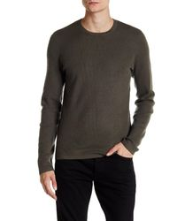 VINCE | Multicolor Oval Thermal Crew Neck Sweater for Men | Lyst