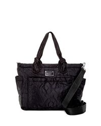 Marc By Marc Jacobs Black Eliza Nylon Baby Tote