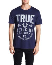 True Religion | Blue Denim Co. Tee for Men | Lyst