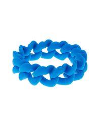 Marc Jacobs - Blue Haute Mess Rubber Curb Chain Bracelet - Lyst