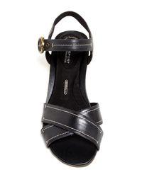 Rockport | Black Total Motion Stitched Sandal | Lyst