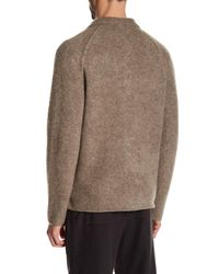 James Perse - Brown Funnel Neck Cardigan for Men - Lyst